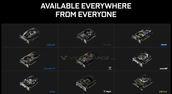 nvidia gtx 1050 ti et gtx 1050 customs