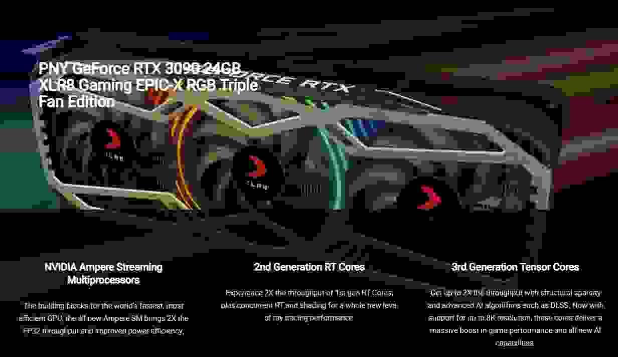 PNY RTX 3090 Triple Fan XLR8 Gaming Edition