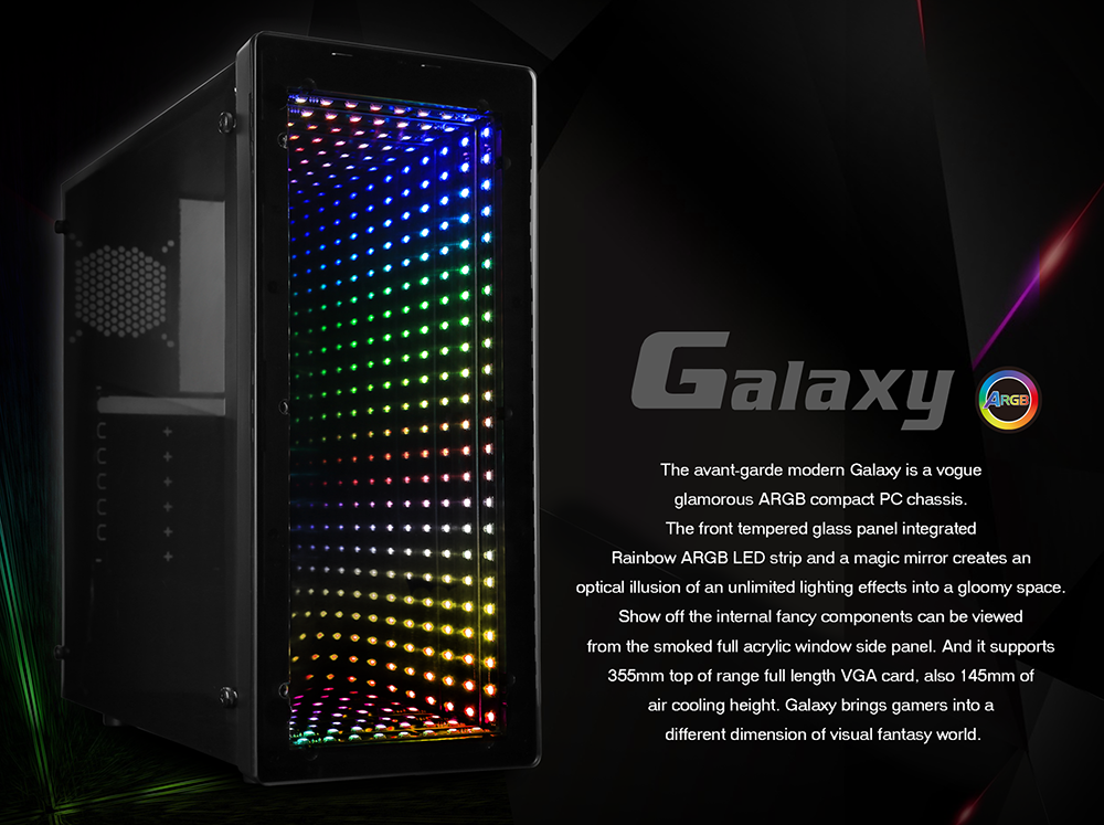 Tunisie Boitier Gamer Raidmax Galaxy - RGB